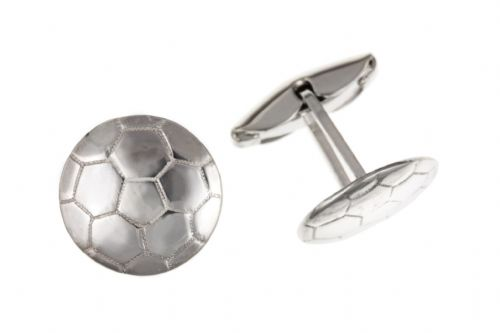 Sterling Silver Football Cufflinks